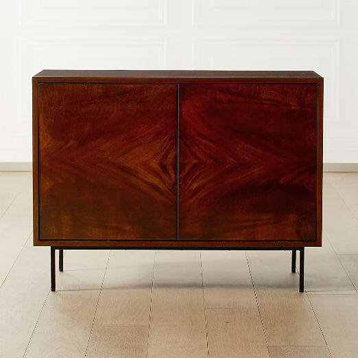 Clyde Mahogany Small Media Console