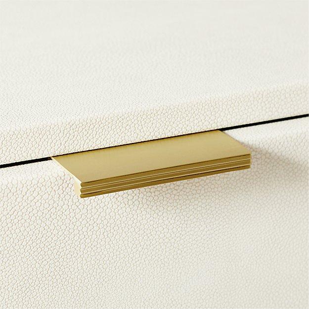 Cody Edge Brushed Brass Drawer Pull - Image 1 of 4
