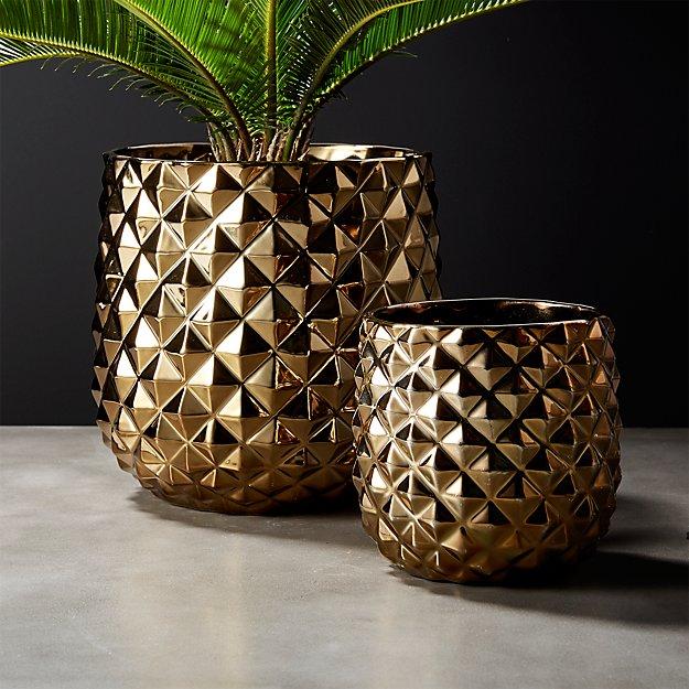 Colada Pineapple Vases Planters Cb2