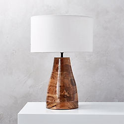 Colby Lacquered Wood Base Table Lamp