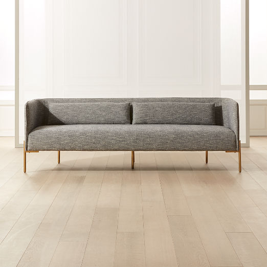 Colette Grey Sofa with Piping