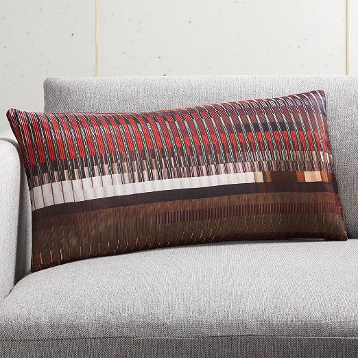"23""x11"" Color Study Silk Pillow"