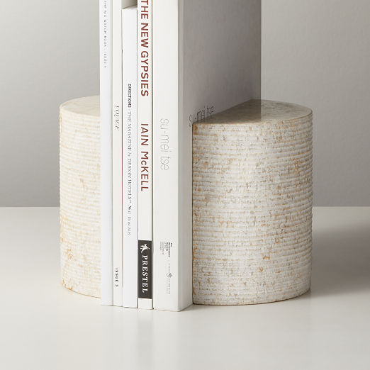 Column Marble Bookends Set of 2