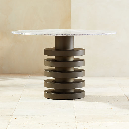 Column Round Dining Table