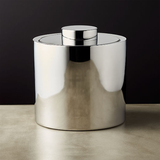 Column Stainless Steel Ice Bucket with Lid