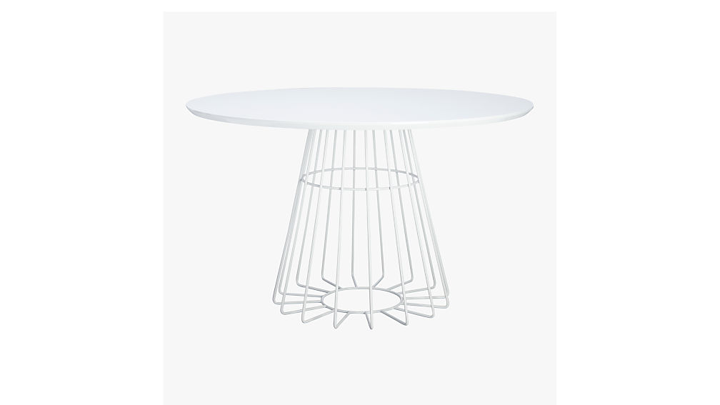 Compass Wire Base Dining Table + Reviews | CB2