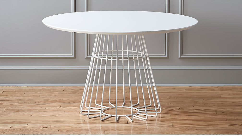 Compass Wire Base Dining Table Reviews Cb2