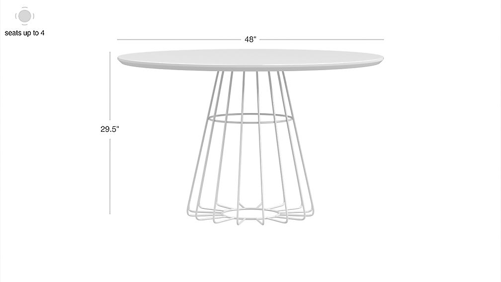 Image with dimension for compass dining table