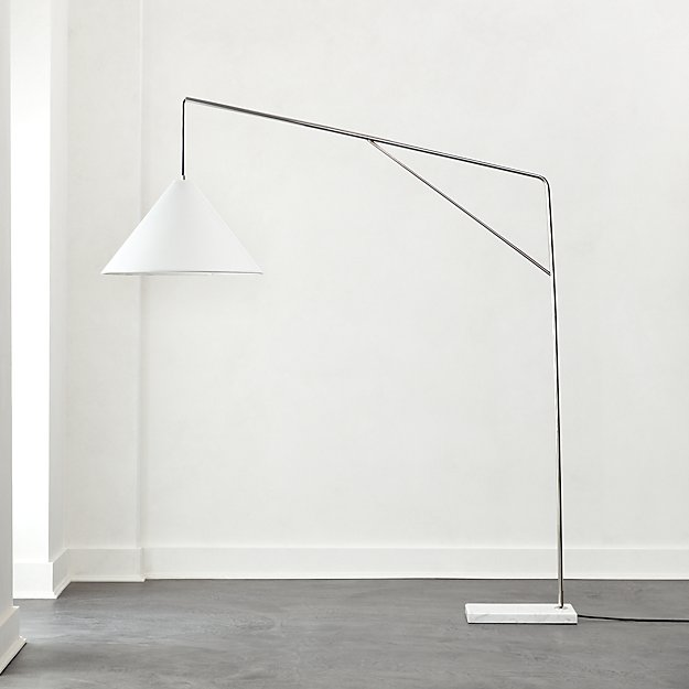 Conan Marble Base Arc Floor Lamp - Image 1 of 7