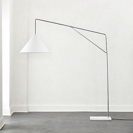 Conan Marble Base Arc Floor Lamp