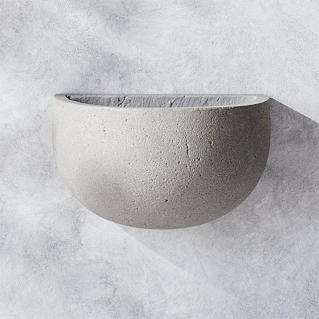 Concrete Hanging Planter - Image 1 of 5