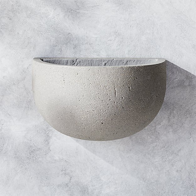 Concrete Hanging Planter Reviews Cb2