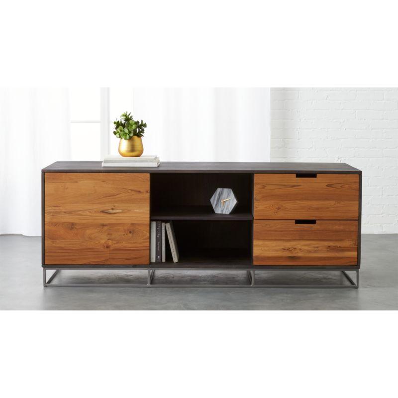 Modern Dark Wood Credenza : Cherry buffet table vintage wood u michlegal