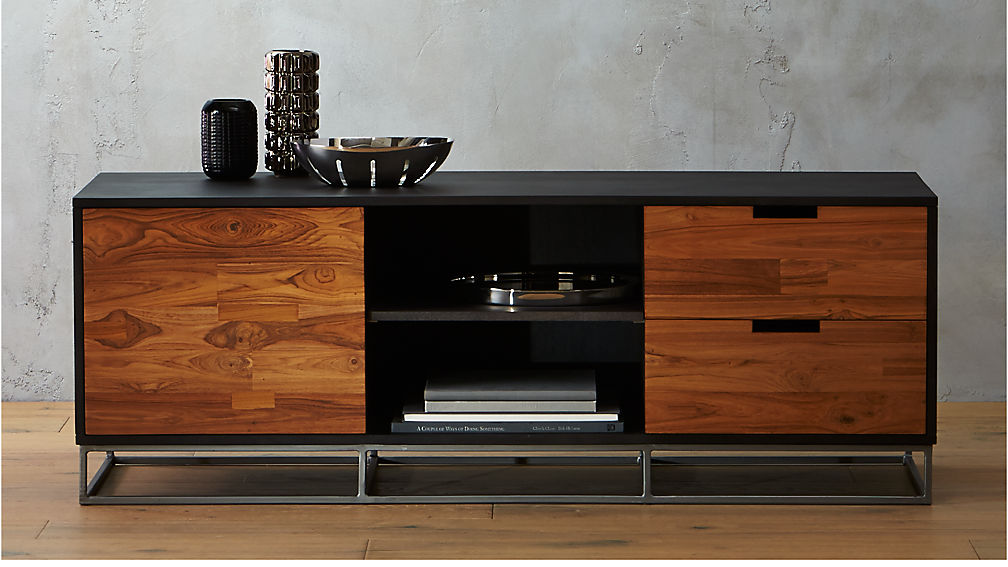 Modern Dark Wood Credenza : Congo modern media credenza reviews cb2