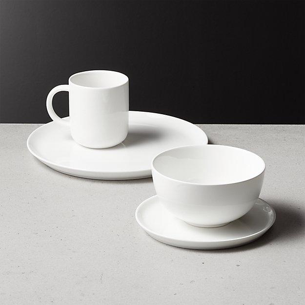 Contact White Dinnerware - Image 1 of 12