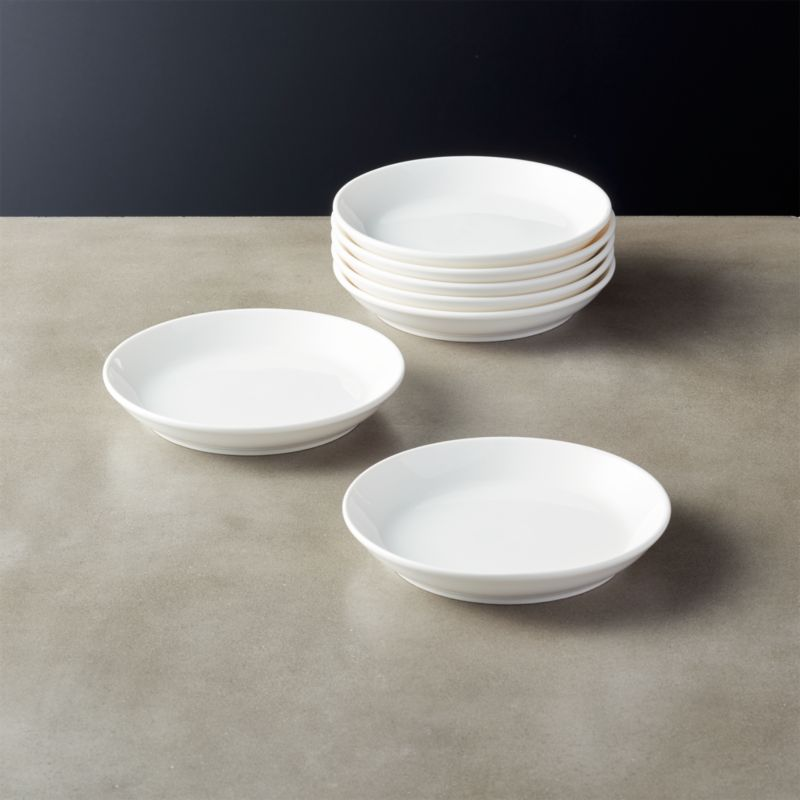 Contact Bone China White Appetizer Plates Set of 8 & appetizer plates | CB2
