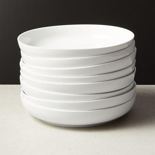 Contact White Pasta Bowl Set of 8