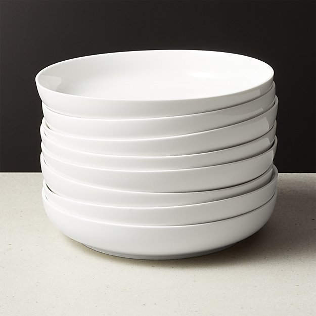 Contact White Pasta Bowl Set of 8 - Image 1 of 2
