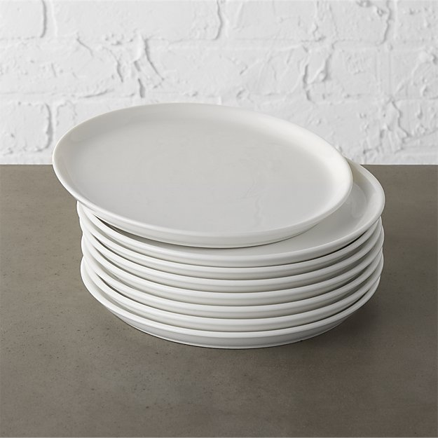 Set of 8 Contact White Salad Plates - Image 1 of 12
