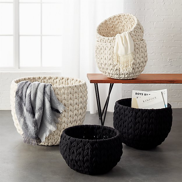 Custom Home Interiors: Conway Cotton Rope Basket