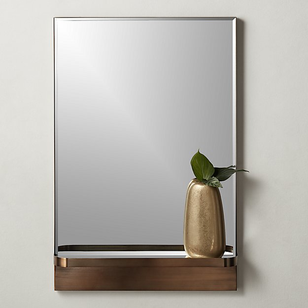 Cooper Rectangular Mirror with Shelf - Image 1 of 6