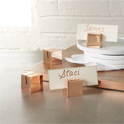 Metal Place Card Holders Cb2