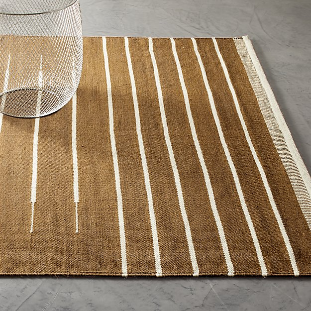 Copper with White Stripe Rug - Image 1 of 3