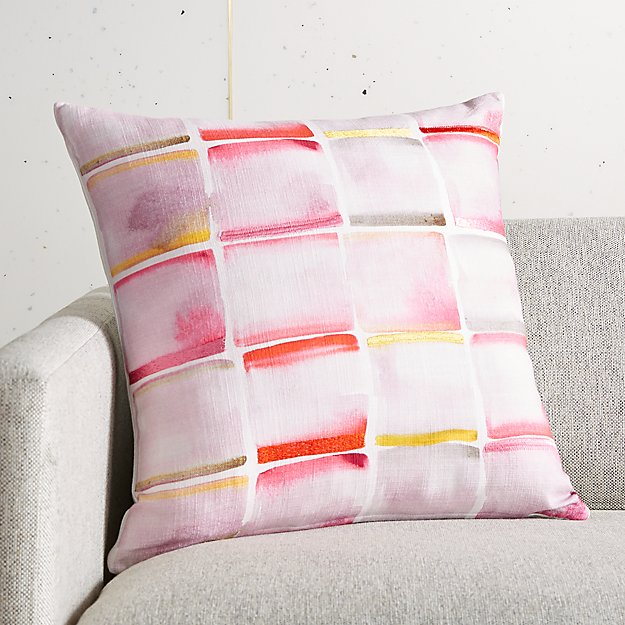 """18"""" Cora Embroidered Pillow - Image 1 of 5"""