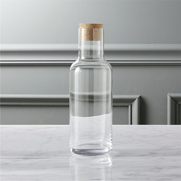 Glass Pitcher With Cork Lid Reviews Cb2