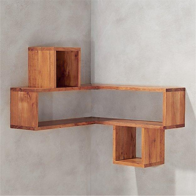Corner Block Wood Shelf Reviews Cb2