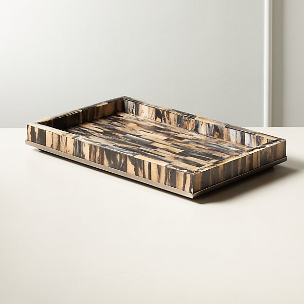 Cortina Faux Horn Tray - Image 1 of 4