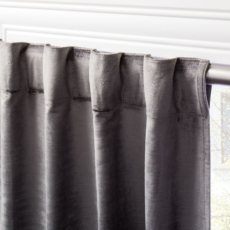 Cotton Viscose Dark Grey Panel 48 X96