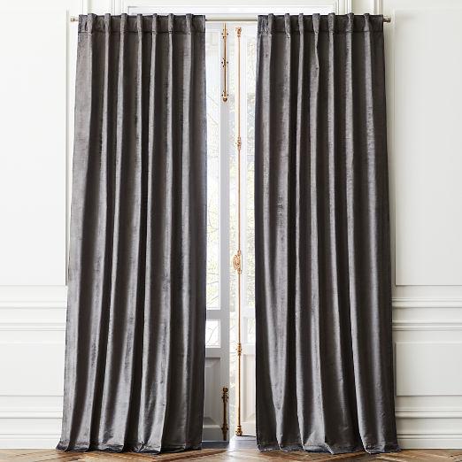 Cotton Viscose Dark Grey Panel