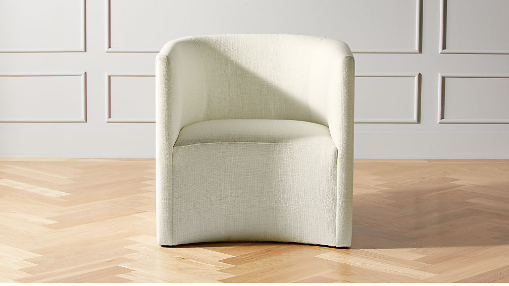 Covet Snow Curved Chair - Image 1 of 6