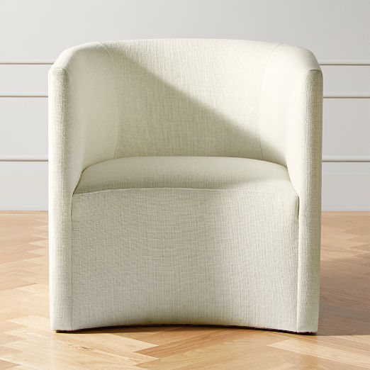 Covet Snow Curved Chair