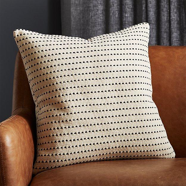 "20"" Clique White Pillow - Image 1 of 8"