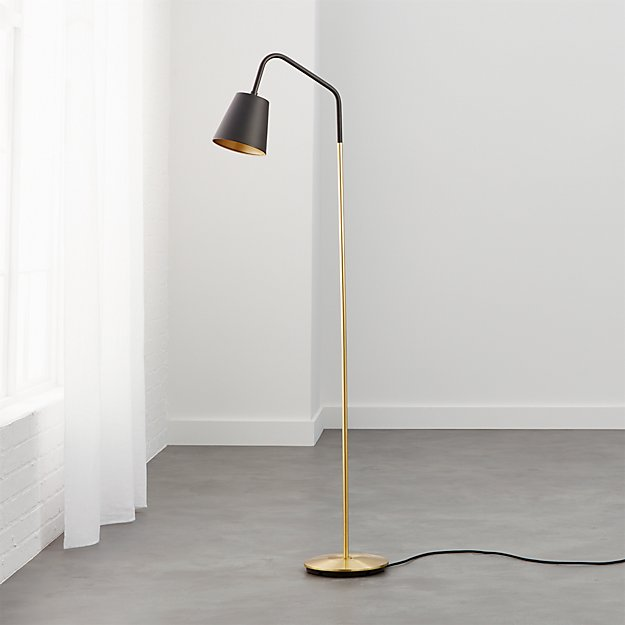 Crane black shade floor lamp reviews cb2 aloadofball Gallery