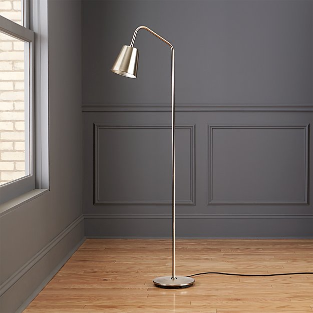 Crane nickel floor lamp reviews cb2 cranefloorlampshf17 aloadofball Gallery
