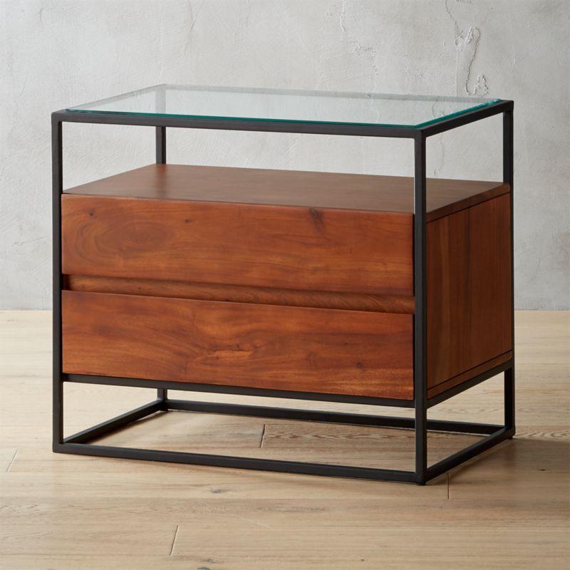 Crawford Glass Top Nightstand