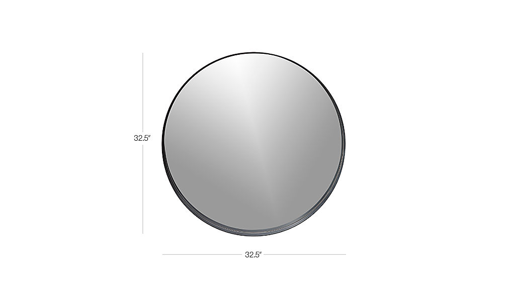 Crescent Round Iron Mirror + Reviews