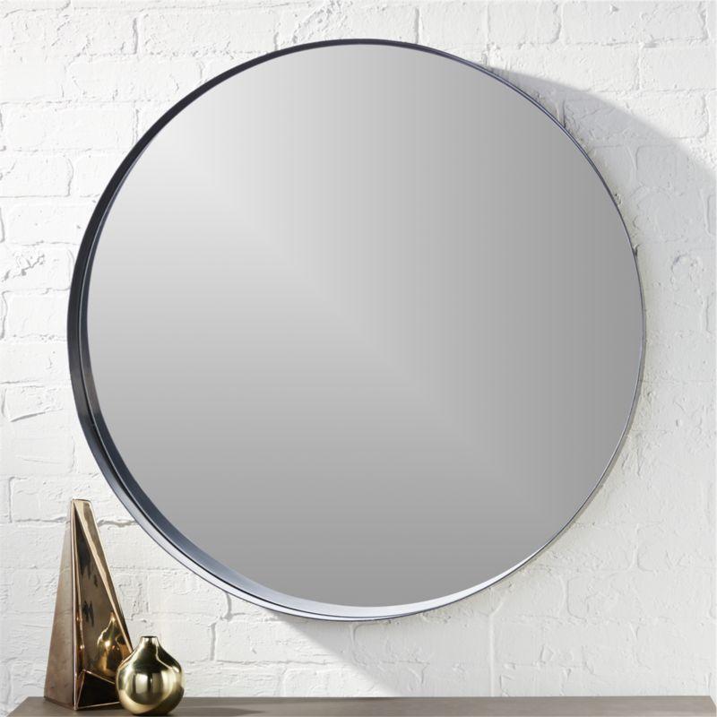 Crescent 32 5 Round Wall Mirror