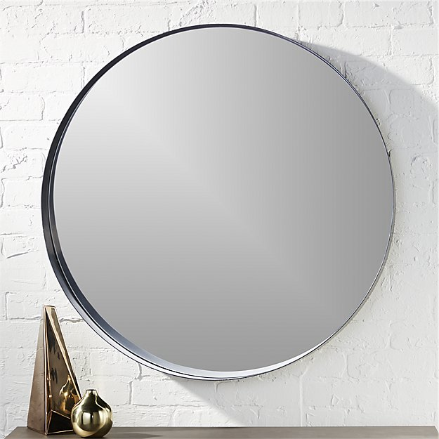 Crescent Round Iron Mirror Reviews Cb2