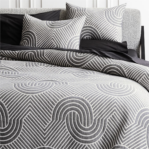 Crescente Grey Bedding