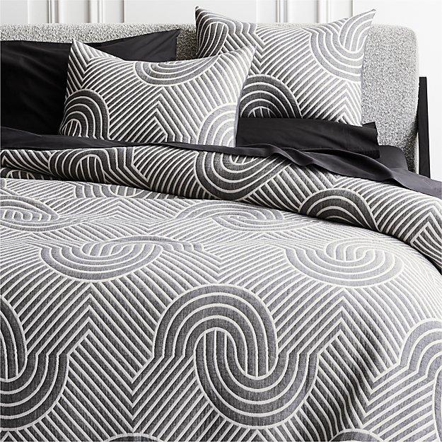 Crescente Grey Bedding - Image 1 of 3