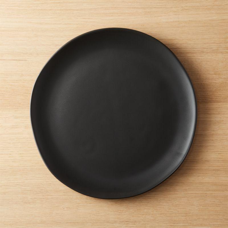 Crisp Matte Black Dinner Plate & matte dinnerware | CB2