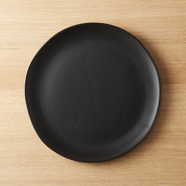 Crisp Matte Black Dinner Plate Reviews Cb2