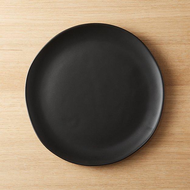 Crisp Matte Black Dinner Plate Reviews Cb2