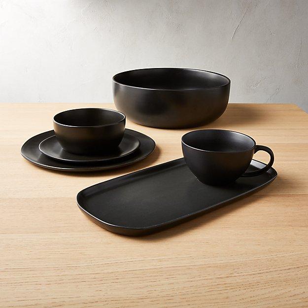 Crisp Matte Black Dinnerware - Image 1 of 11
