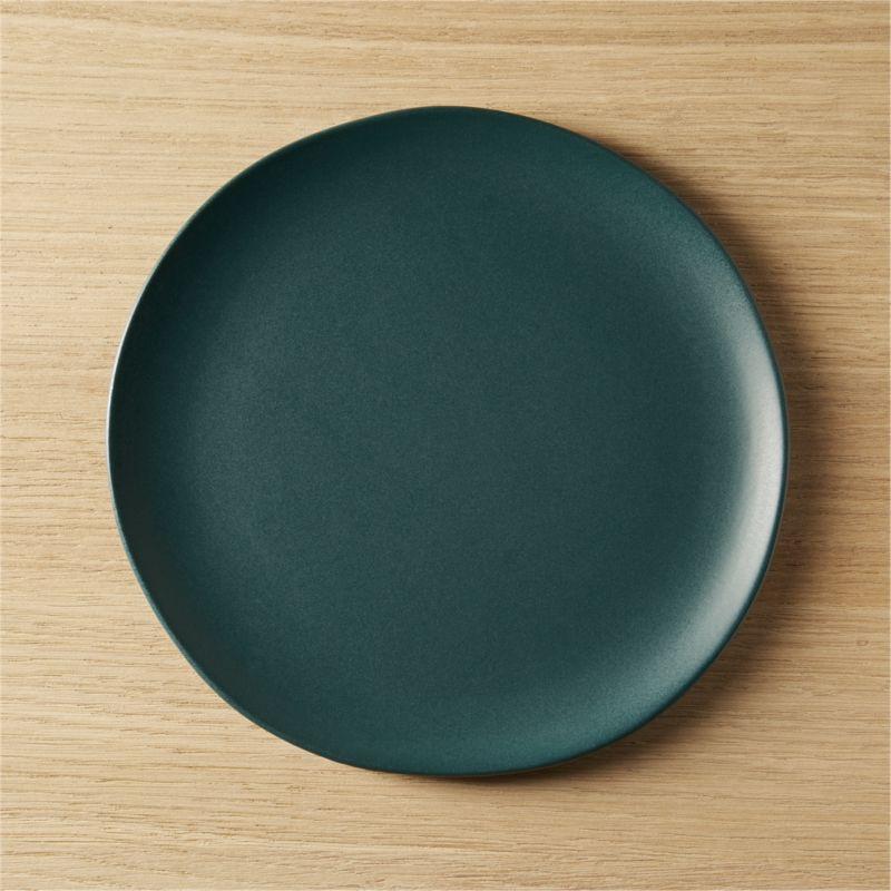crisp matte blue-green salad plate & Blue Dinnerware | CB2