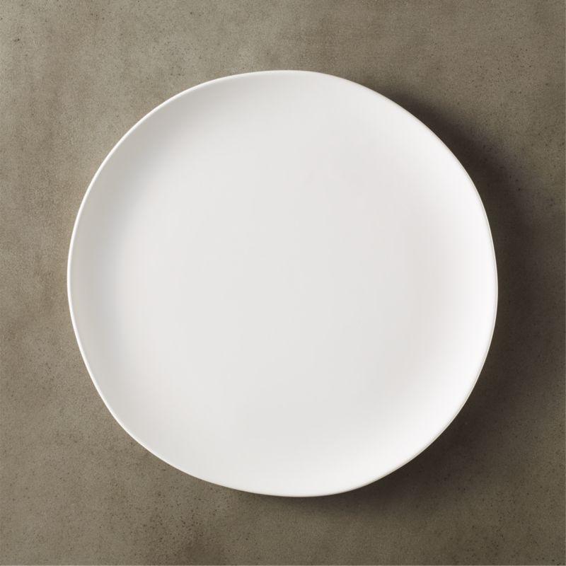 crisp matte white dinner plate & matte dinnerware | CB2
